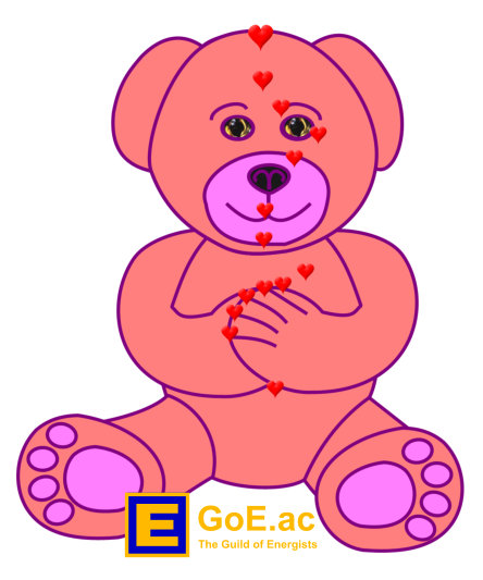 EFT Pink Teddy Bear For Kids Energy EFT Diagram