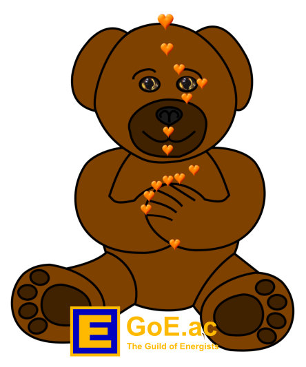EFT Teddy Bear Tapping Points For Kids Energy EFT Diagram